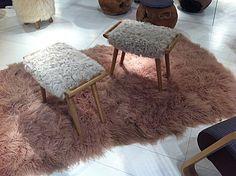 #faux fur #chairs at #maison objet paris 2012