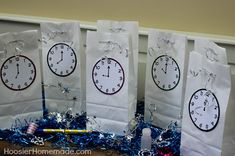 Countdown Bags: Clock Printables