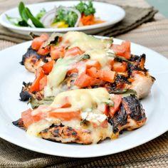 Grilled Chicken Bruschetta - Try Emeril's Italian Seasoning for some kickin' flavor! emerilscooking.com #grilled #chicken #recipe #emerils