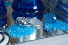 hanukkah sugar, blue sugar, parties, hanukkah decor, sugar display