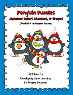 Penguin Puzzles ~ Alphabet, Colors, Numbers, and Shapes product from Preschool-Discoveries on TeachersNotebook.com