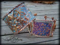 Hammered Copper Cuff Bracelet using ArtEmboss medium copper and WireForm medium copper rods; great outcome
