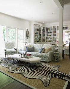 zebra rug on a rug