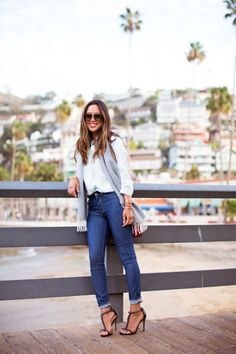 Aimee Song is photo ready with in our denim! #CatalinaIsland #DreamingInBlue
