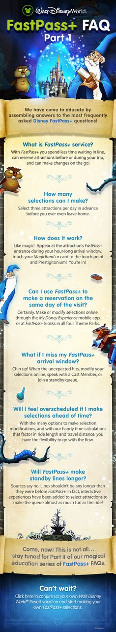 Learn the basics of FastPass+ with these FAQs from Walt Disney World!