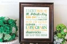 St Patrick's Day Subway Art Free Printable...love the sayings on this one!