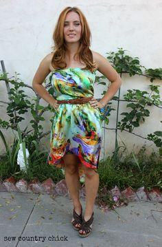 Hi / Lo Strapless Dress Pattern Making Tutorial : Melly Sews' 30 Days Of Sundresses Series