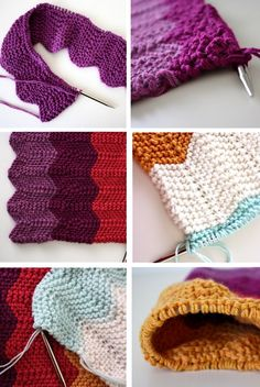 the knitted chevron blanket