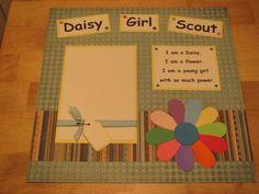 Daisy Girl Scout  scrapbook idea