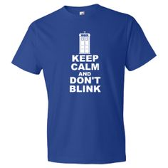 KEEP CALM AND DON'T BLINK Tardis Comfort Fit T-Shirt