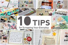 10 Tips for Scrapbooking Your Everyday - a look at the January release from the Garden Girls.