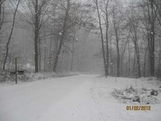 Snow falling near Summerville, Clarion County.