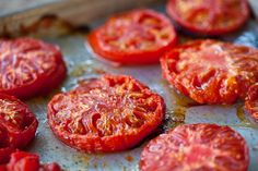 """Oven Roasted Tomato Soup - My family RAVED about this recipe ... comments included """"This tasted like something from a five star restaurant."""" My secret, add a dash of baking soda while it's simmering."""