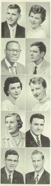 1956 hair, in the yearbook of Three Rivers High School in Three Rivers, Michigan.  #ThreeRivers #Michigan #yearbook #1956