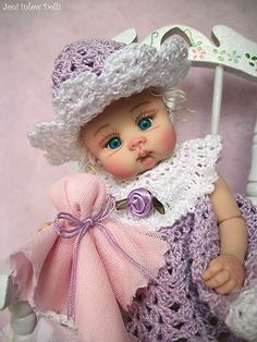 Hand sculpted doll by Joni Inlow