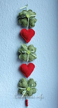 St. Patrick's Day Craft - Shamrock and Hearts Decoration