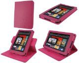 #rooCASE Dual-View Multi Angle (Magenta) 100% Genuine Leather Leather Folio Case Cover for Amazon Kindle Fire 7-Inch Android Tablet. My wife loves this Kindle stand.  http://kindletouchcoverlight.com