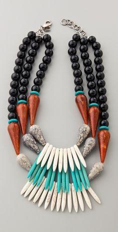 Dannijo stone bead necklace