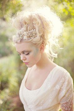 up do hair, fairy hair, fairytale party, editorial hair, dress