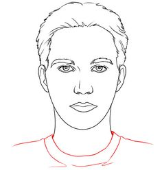 male blank face template for makeup sketch coloring page