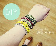 teahab: DIY Wrap Up Bracelet jewellery tutorial