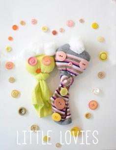 Heart Sock Puppets