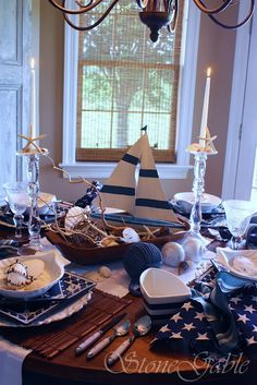 great summer table setting :)