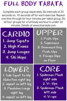 Full body Tabata workout.