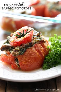 Oven Roasted Stuffed Tomatoes