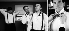 Coordinate Your Men — Today's Bride | Left photo by Genevieve Nisly Photography; Right photo by Cavanaugh Photography