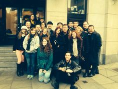 Outside the Handel Hotel...originally the location of The Music Hall. Where Messiah premiered!