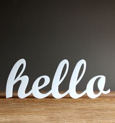 hello acrylic sign for modern office entryway