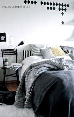 bedding, design bedroom, bedroom decor, black white, white bedrooms
