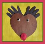 Rudolph The Red-Nosed Reindeer Handprint Craft for Kids! #christmas crafts for kids
