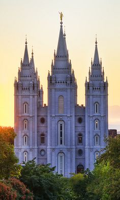 LDS Temple at Sunset