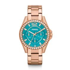 Fossil Riley Multifunction Stainless Steel Watch - Rose