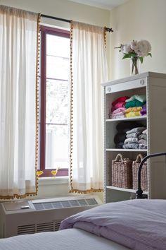 pom-pom trim on curtains