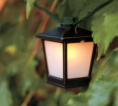 Malta Mini Lantern String Lights - Bronze finish #potterybarn