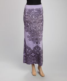 Look what I found on #zulily! Purple Brocade Maxi Skirt by Casa Lee #zulilyfinds