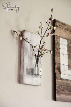 Glass Bottle Wall Vase
