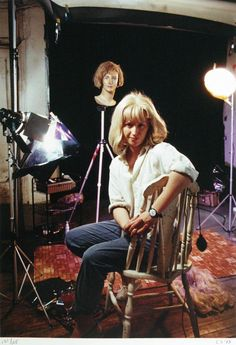Cindy Sherman in her studio