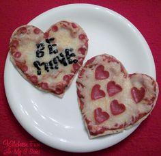 Kitchen Fun With My 3 Sons: Valentine Heart Pita Pizzas