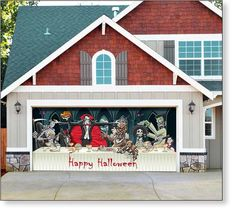 Garage Door Decals On Pinterest Garage Doors Halloween