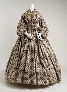 Morning dress, Date: 1850–65, Culture: American, Medium: cotton
