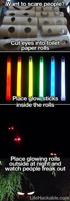 glow sticks, toilet paper rolls, parenting tips, halloween decorations party, monster decorations, cute halloween ideas, fall decorations for kids, halloween eyes, awesom