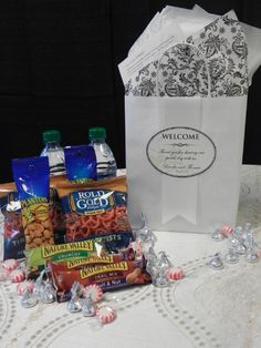 Welcome Bags for out of town guests! They will love you for it!