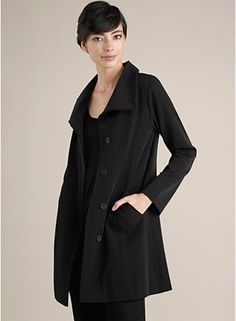 rain coat, eileen fisher, pari, black trench, raincoat, fisher black, chic black, fashionmi style, trench coat