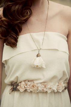 mignonnehandmade  Long blossom necklace- style 403. $45.00, via Etsy.