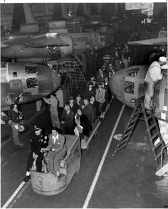 The Universal City-North Hollywood Chamber of Commerce visits the Lockheed Plant. San Fernando Valley History Digital Library.