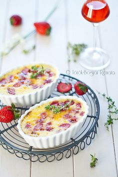 Strawberry creme brulee